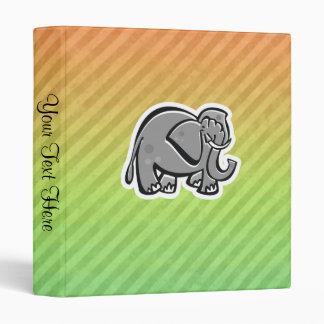 Cute Elephant; Colorful Vinyl Binder