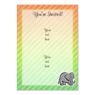 Cute Elephant; Colorful Card