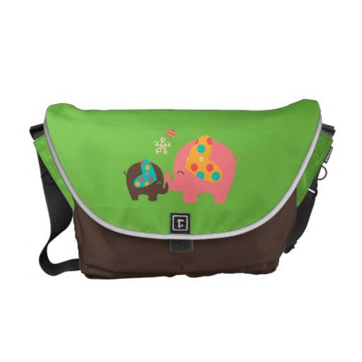cute elephant commuter bags