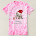 Cute Elephant & Cupcake Christmas Tee Shirt