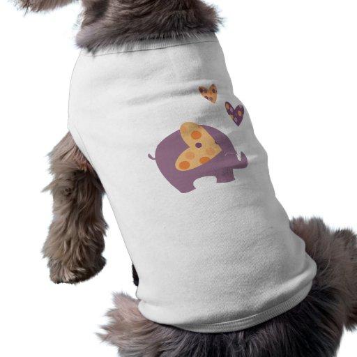 cute elephant dog t shirt