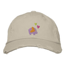 cute elephant embroidered baseball cap