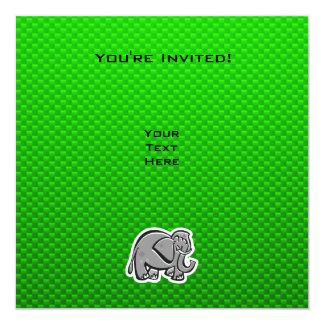 Cute Elephant; Green Card