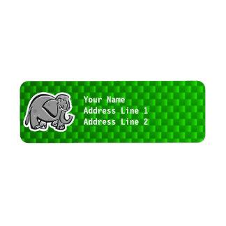 Cute Elephant; Green Label