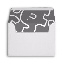 Cute Elephant Grey And White Envelopes