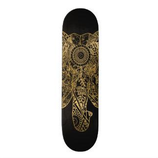 Cute Elephant hand drawn Henna floral Skateboard Deck