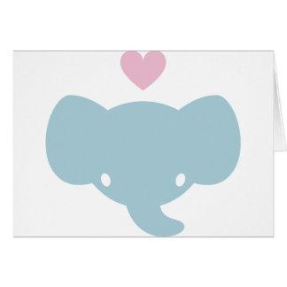 Cute Elephant Heart Graphic Card