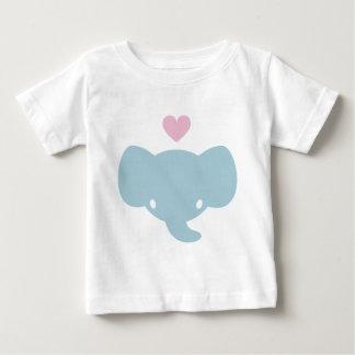 Cute Elephant Heart Graphic T-shirt