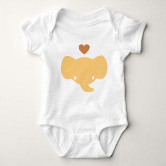 Cute Elephant Heart Graphic Tee Shirt