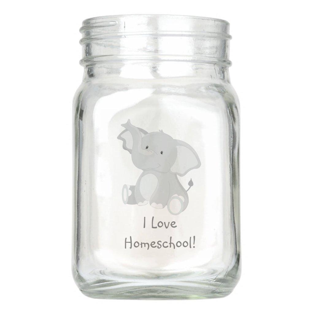 Cute Elephant I love Homeschool