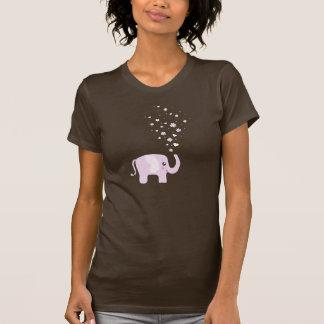 Cute elephant in girly pink & purple tees