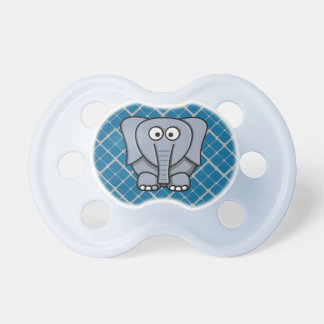 Cute Elephant in Gray Matching Pacifier