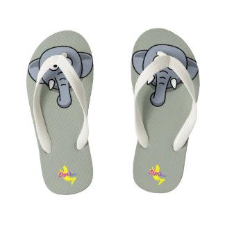 Cute elephant kid's flip flops