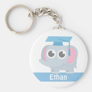 Cute Elephant Kids Preschool Graduation Basic Round Button Keychain