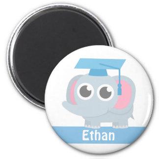 Cute Elephant Kids Preschool Graduation Magnet