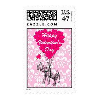 Cute elephant love heart Valentine's Postage