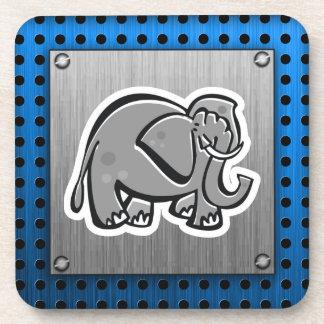 Cute Elephant; Metal-look Coaster