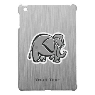 Cute Elephant; Metal-look iPad Mini Covers