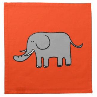 Cute elephant printed napkins