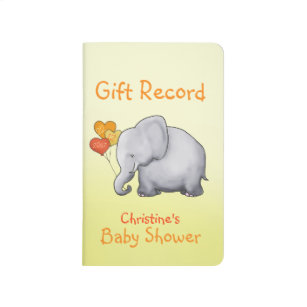 Baby Shower Gift Journal ~ Elephant baby shower notebooks journals zazzle