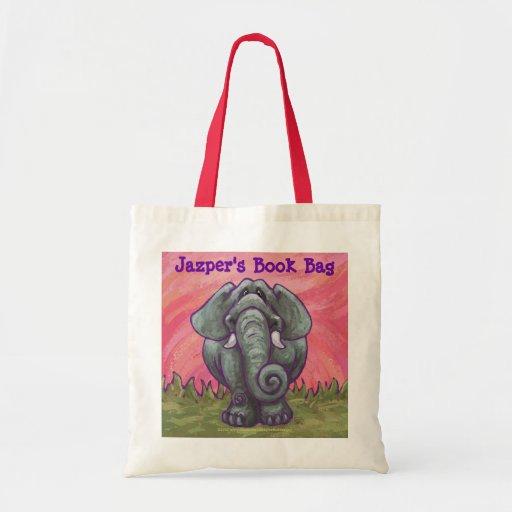 elephant personalized book bag zazzle