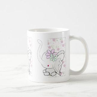 Cute Elephant Pink Classic White Coffee Mug