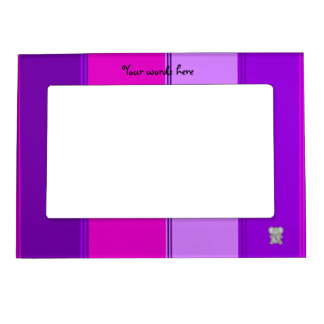 Cute elephant pink purple stripes magnetic frame
