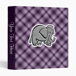 Cute Elephant; Purple Vinyl Binders