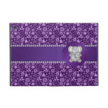 Cute elephant purple flowers case for iPad mini