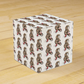 Cute Elephant Riding A Tricycle Favor Box