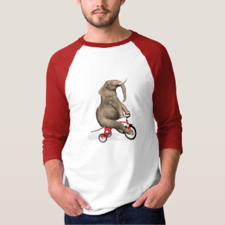 Cute Elephant Riding A Tricycle T-Shirt