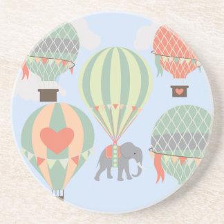 Cute Elephant Riding Hot Air Balloons Rising Coaster