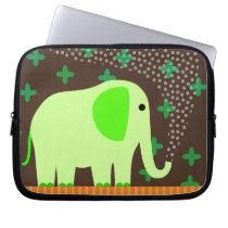 Cute Elephant Spraying Water Computer Sleeve