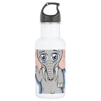 cute elephant stainless steel water bottle