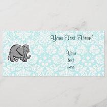 Cute Elephant; teal