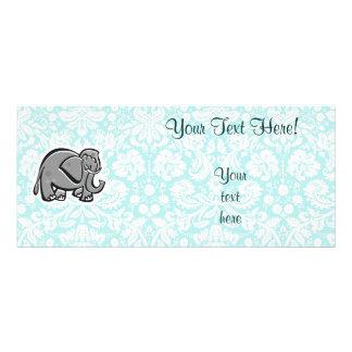 Cute Elephant; teal Rack Card