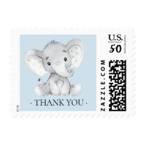 Cute Elephant  Thank You Baby Shower Postage