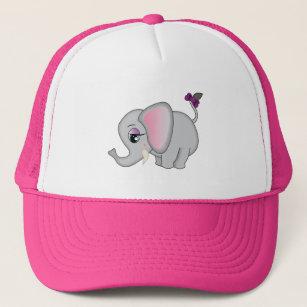 727fdcb35b00c Cute Elephant Trucker Hat
