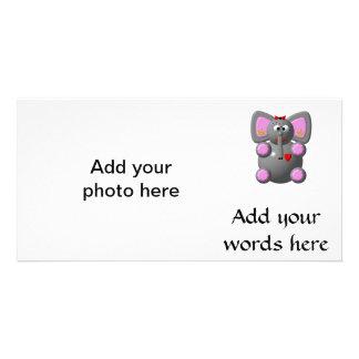 Cute Elephant wearing Earrings Card