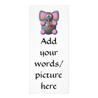 Cute Elephant wearing Earrings Rack Card