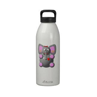 Cute Elephant wearing Earrings Water Bottles
