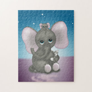 Cute Elephant with Baby Jigsaw Puzzle