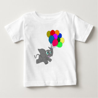 Cute Elephant with Balloons Baby T-Shirt