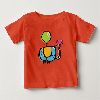 Cute elephant with bird on trunk baby T-Shirt