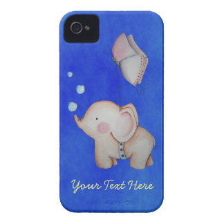 Cute Elephant with butterfly iPhone 4 Case