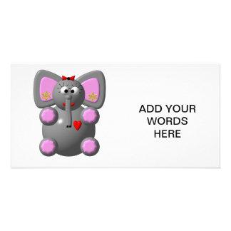 Cute Elephant with Ear  Card