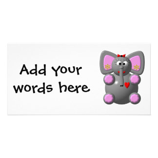 Cute Elephant with Earrings Card