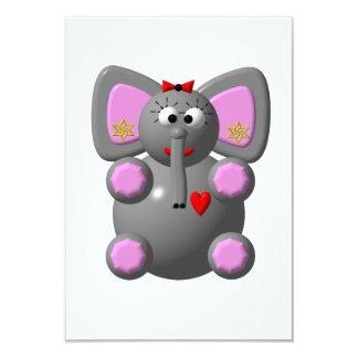 Cute Elephant with Earrings Custom Invites