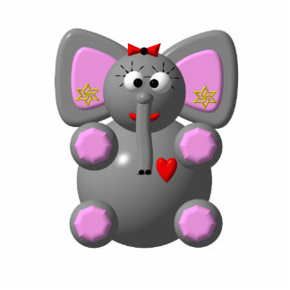 Cute Elephant with Earrings Cutout