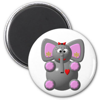 Cute Elephant with Earrings Magnet